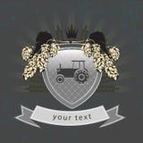 Εκλεκτής ποιότητας γεωργικό λογότυπο στην ασπίδα Στοκ Φωτογραφία