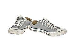Εκλεκτής ποιότητας γκρίζο παπούτσι Στοκ Εικόνα