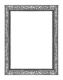 Εκλεκτής ποιότητας γκρίζο πλαίσιο που απομονώνεται στο άσπρο υπόβαθρο, με το ψαλίδισμα του π Στοκ εικόνα με δικαίωμα ελεύθερης χρήσης
