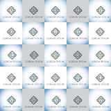 Εκλεκτής ποιότητας γράμματα της αλφαβήτου διανυσματικό σύνολο λογότυπων Στοκ εικόνα με δικαίωμα ελεύθερης χρήσης