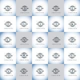 Εκλεκτής ποιότητας γράμματα της αλφαβήτου διανυσματικό σύνολο λογότυπων Στοκ Εικόνα