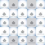 Εκλεκτής ποιότητας γράμματα της αλφαβήτου πολυτέλειας διανυσματικό σύνολο λογότυπων Ταυτότητα εμπορικών σημάτων για το εστιατόριο Στοκ Εικόνα