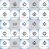 Εκλεκτής ποιότητας γράμματα της αλφαβήτου πολυτέλειας διανυσματικό σύνολο λογότυπων Ταυτότητα εμπορικών σημάτων για το εστιατόριο Στοκ φωτογραφία με δικαίωμα ελεύθερης χρήσης