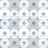Εκλεκτής ποιότητας γράμματα της αλφαβήτου πολυτέλειας διανυσματικό σύνολο λογότυπων Ταυτότητα εμπορικών σημάτων για το εστιατόριο Στοκ εικόνες με δικαίωμα ελεύθερης χρήσης
