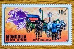 Εκλεκτής ποιότητας γραμματόσημο της Μογγολίας Στοκ φωτογραφία με δικαίωμα ελεύθερης χρήσης