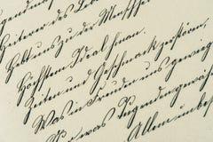 Εκλεκτής ποιότητας γραφή παλαιό χειρόγραφο ηλικίας έγγραφο Στοκ φωτογραφία με δικαίωμα ελεύθερης χρήσης