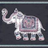 Εκλεκτής ποιότητας γραφικός διανυσματικός ινδικός εθνικός ελέφαντας λωτού Αφρικανικός τρι απεικόνιση αποθεμάτων