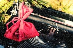 Εκλεκτής ποιότητας γραφομηχανή για τα Χριστούγεννα Στοκ Εικόνες