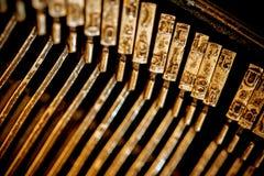 Εκλεκτής ποιότητας γραφομηχανή μηχανών Στοκ Φωτογραφίες
