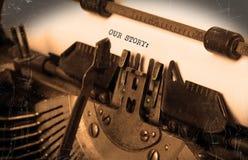 Εκλεκτής ποιότητας γραφομηχανή Στοκ εικόνες με δικαίωμα ελεύθερης χρήσης