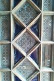 Εκλεκτής ποιότητας γυαλί θαμπάδων παραθύρων στοκ εικόνες