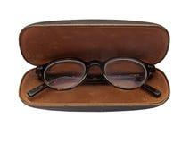 Εκλεκτής ποιότητας γυαλιά σε περίπτωση που Στοκ Φωτογραφίες