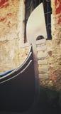 Εκλεκτής ποιότητας γόνδολα Ιταλία venezia της Βενετίας Βένετο ενετική Στοκ φωτογραφία με δικαίωμα ελεύθερης χρήσης