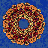 Εκλεκτής ποιότητας εθνικό διανυσματικό mandala διακοσμήσεων επάνω βαθιά Στοκ Φωτογραφία