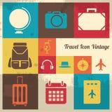Εκλεκτής ποιότητας εικονίδιο ταξιδιού Στοκ εικόνα με δικαίωμα ελεύθερης χρήσης