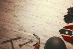 Εκλεκτής ποιότητας εξοπλισμός για τον ποδηλάτη στοκ φωτογραφία με δικαίωμα ελεύθερης χρήσης