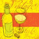 Εκλεκτής ποιότητας επίλεκτο κρασί Στοκ Εικόνες
