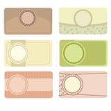 Εκλεκτής ποιότητας επαγγελματικές κάρτες καθορισμένες Στοκ Εικόνα
