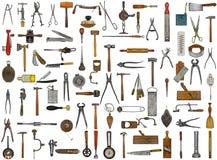 Εκλεκτής ποιότητας εργαλεία και εργαλεία Στοκ Φωτογραφία