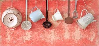 Εκλεκτής ποιότητας εργαλεία κουζινών, Στοκ φωτογραφίες με δικαίωμα ελεύθερης χρήσης