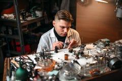 Εκλεκτής ποιότητας εργαλείο ρολογιών επισκευής κατασκευαστών ρολογιών Στοκ Εικόνες