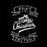 Εκλεκτής ποιότητας δερματοστιξία κρανίων Χριστουγέννων Στοκ Εικόνες