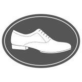 Εκλεκτής ποιότητας ετικέτα παπουτσιών ατόμων Στοκ Εικόνες