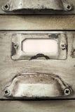Εκλεκτής ποιότητας ετικέτα συρταριών ντουλαπιού αρχειοθέτησης Στοκ εικόνες με δικαίωμα ελεύθερης χρήσης