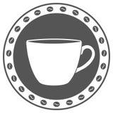 Εκλεκτής ποιότητας ετικέτα φλιτζανιών του καφέ Στοκ εικόνα με δικαίωμα ελεύθερης χρήσης