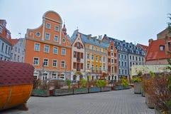 Εκλεκτής ποιότητας ζωηρόχρωμες οδοί της Ρήγας Στοκ Εικόνες