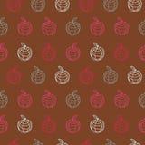 Εκλεκτής ποιότητας ζωηρόχρωμο σχέδιο πολυγώνων περιλήψεων μήλων Στοκ εικόνες με δικαίωμα ελεύθερης χρήσης