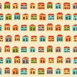 Εκλεκτής ποιότητας ζωηρόχρωμο σχέδιο σπιτιών Στοκ εικόνα με δικαίωμα ελεύθερης χρήσης