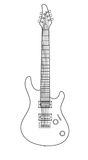 Εκλεκτής ποιότητας ηλεκτρική κιθάρα βράχου κτυπήματος Στοκ φωτογραφία με δικαίωμα ελεύθερης χρήσης