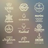Εκλεκτής ποιότητας θαλάσσιος, ναυτικός, ετικέτες ναυτικών ελεύθερη απεικόνιση δικαιώματος
