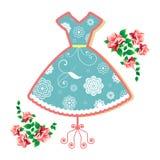 Εκλεκτής ποιότητας θερινό φόρεμα Στοκ εικόνα με δικαίωμα ελεύθερης χρήσης