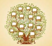 Εκλεκτής ποιότητας διάνυσμα προτύπων οικογενειακών δέντρων Στοκ εικόνα με δικαίωμα ελεύθερης χρήσης