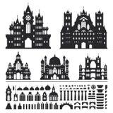 Εκλεκτής ποιότητας διάνυσμα του Castle Στοκ εικόνα με δικαίωμα ελεύθερης χρήσης