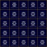 Εκλεκτής ποιότητας διακοσμητικό διανυσματικό σύνολο λογότυπων Στοκ Φωτογραφία