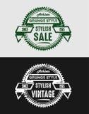 Εκλεκτής ποιότητας διακριτικά λογότυπων Grunge Στοκ Εικόνα