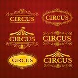 Εκλεκτής ποιότητας διακριτικά τσίρκων καθορισμένα, διανυσματική απεικόνιση Στοκ εικόνα με δικαίωμα ελεύθερης χρήσης