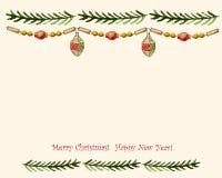 Εκλεκτής ποιότητας διανυσματική κάρτα Χριστουγέννων Στοκ εικόνες με δικαίωμα ελεύθερης χρήσης