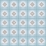 Εκλεκτής ποιότητας διανυσματικό λογότυπο πολυτέλειας που τίθεται στη μορφή αστεριών Στοκ φωτογραφία με δικαίωμα ελεύθερης χρήσης
