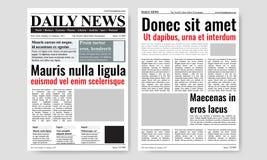 Εκλεκτής ποιότητας διανυσματικό πρότυπο περιοδικών εφημερίδων Στοκ εικόνα με δικαίωμα ελεύθερης χρήσης