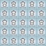 Εκλεκτής ποιότητας διανυσματικό σύνολο λογότυπων πολυτέλειας Στοκ Φωτογραφίες