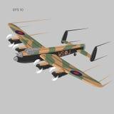 Εκλεκτής ποιότητας διανυσματικό illustartion βομβαρδιστικών αεροπλάνων WW2 βαρύ στρατιωτικό αεροπλάνο Θρυλικό αναδρομικό αεροπλάν Στοκ φωτογραφία με δικαίωμα ελεύθερης χρήσης