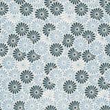 Εκλεκτής ποιότητας ιαπωνικό άνευ ραφής σχέδιο λουλουδιών Στοκ Φωτογραφία