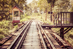 Εκλεκτής ποιότητας διαδρομές σιδηροδρόμου στην Ταϊλάνδη στοκ εικόνες με δικαίωμα ελεύθερης χρήσης