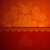 Εκλεκτής ποιότητας ινδική διακόσμηση Στοκ Εικόνες