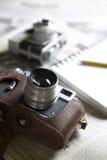 Εκλεκτής ποιότητας κάμερα δημοσιογράφων στοκ φωτογραφία με δικαίωμα ελεύθερης χρήσης