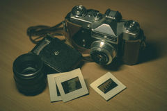 Εκλεκτής ποιότητας κάμερα και εξαρτήματα Στοκ Εικόνα